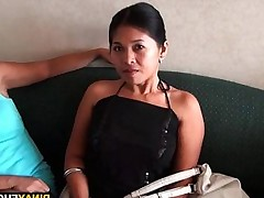 Asian honey ready to gag on a dick