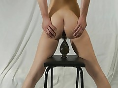Elmer wife self anal destruction with huge dildo