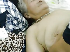80yr old Japanese Granny Still gets Creamed..