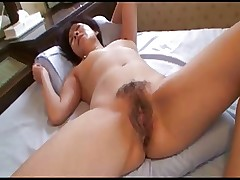 Pretty Japanese Mature's Cunt Fucked..