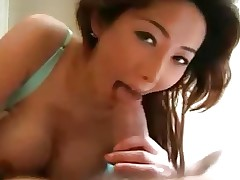 Busty Asian Milf Sucks Fucks And Takes A Facial !