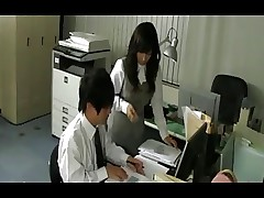 Japanese Mature in Stockings Dominates a Guy..