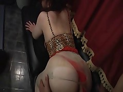 Huge mature hostess of buttocks