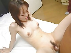 Petite Asian girl with tiny tits and tight body..