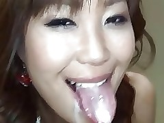 Valuable japanese beauty with wish tongue sucks..