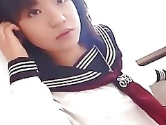 Alluring Japanese schoolgirl cumfaced uncensored